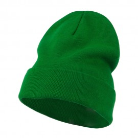 Big Size Superior Cotton Long Knitting Beanie-Kelly