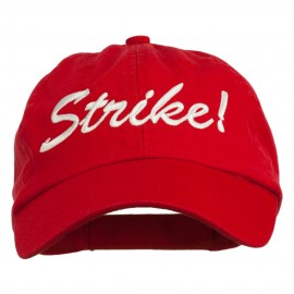 Bowling Strike Embroidered Low Profile Washed Cap