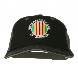 Vietnam Veteran Embroidered Big Size Mesh Cap