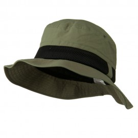 Big Size Talson UV Bucket Hat with Side Mesh - Olive