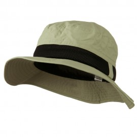 Big Size Talson UV Bucket Hat with Side Mesh - Khaki