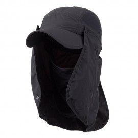 UV 50+ Talson Removable Flap Breathable Cap - Charcoal