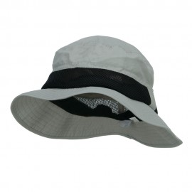 Big Size Talson UV Bucket Hat with Side Mesh - Grey