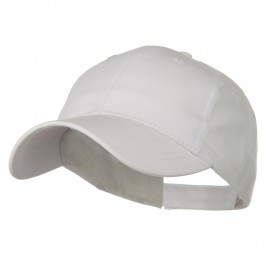 Youth Brushed Cotton Twill Low Profile Cap - White