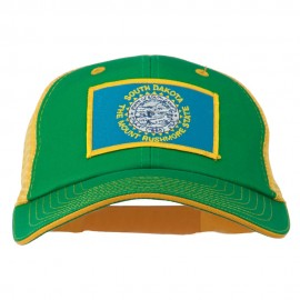 Big Mesh State South Dakota Patch Cap - Kelly Gold