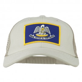 Big Mesh State Louisiana Patch Cap