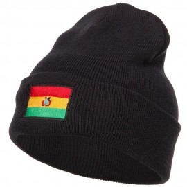 Bolivia Flag Embroidered Long Beanie