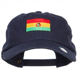 Bolivia Flag Embroidered Unstructured Cap