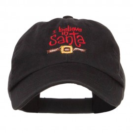 I Believe in Santa Embroidered Low Cap