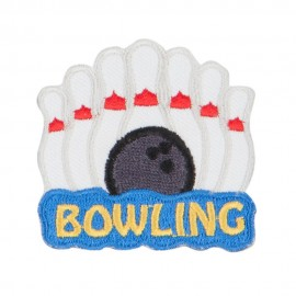 Bowling Pins Embroidered Patches