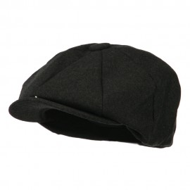 Big Wool Blend Newsboy Cap-Dk. Grey