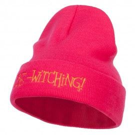 Be Witching Embroidered Long Beanie