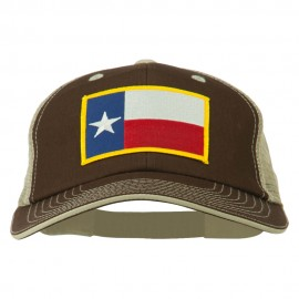 Big Mesh State Texas Patch Cap - Brown Beige
