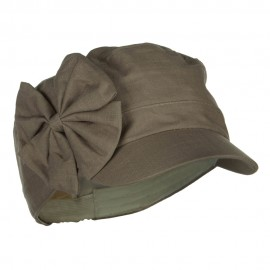 Women's Bow Accent Military Cap