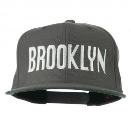 Brooklyn Embroidered Wool Snapback Cap