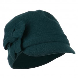 Ladies Wool Bow Cabby Cap