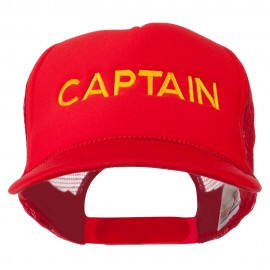 Youth Captain Embroidered Foam Mesh Back Cap