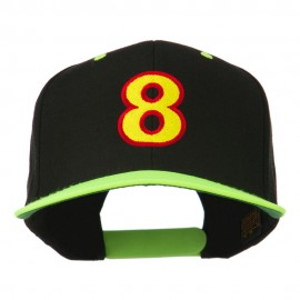 Arial Number 8 Embroidered Classic Two Tone Cap