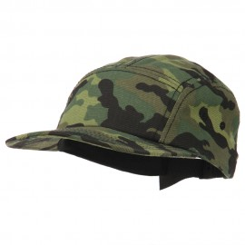 Cotton Brushed Canvas Camo Camper Cap