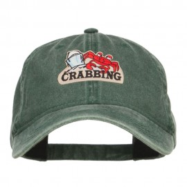 Fishing Crab Patched Washed Cap