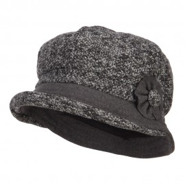 Women's Rolled Brim Cabbie Cap