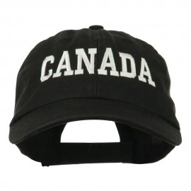 Canada Embroidered Low Profile Pet Spun Washed Cap