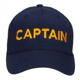Captain Embroidered Cap - Navy