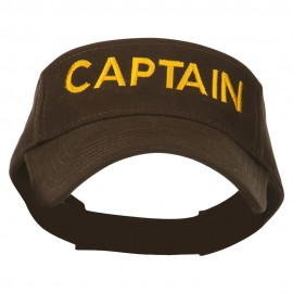 Captain Embroidered Strap Back Visor