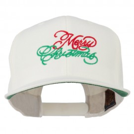 Merry Christmas Embroidered Snapback Cap