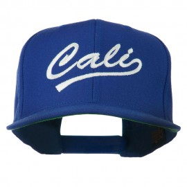 Cali Embroidered Flat Bill Cap