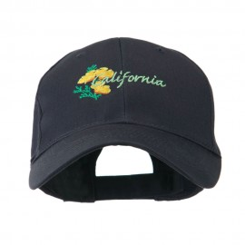 USA State Flower California Poppy Embroidery Cap