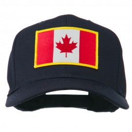 Canada Flag Embroidered Patch Cap - Navy