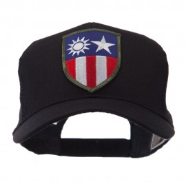 Combined Forces Military Patched Mesh Cap - Chi Bur