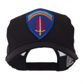 Combined Forces Military Patched Mesh Cap - Shaef