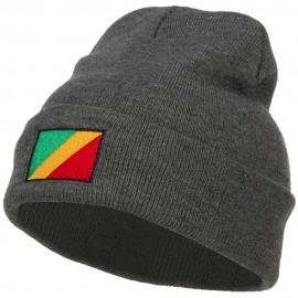 Congo Flag Embroidered Beanie