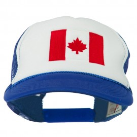 Canada Flag Embroidered Foam Mesh Back Cap
