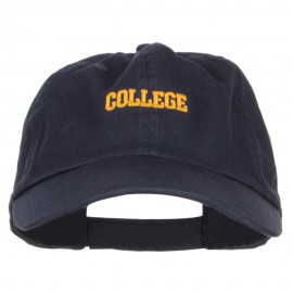 Mini College Embroidered Low Cap