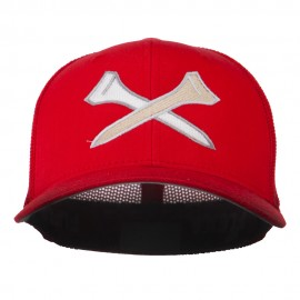 Crossed Golf Tees Embroidered Trucker Cap
