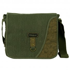 Canvas Messenger Bag with Holder- Olive