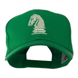 Chess Piece of a Knight Embroidered Cap - Kelly