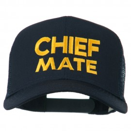 Chief Mate Embroidered Mesh Cap