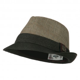 Pleated Straw Band Fedora