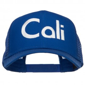 Cali Embroidered Solid Mesh Cap
