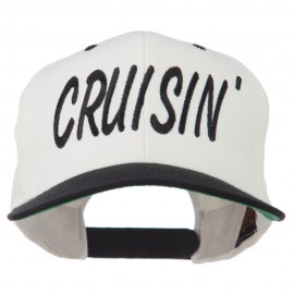Cruisin Embroidered Flat Bill Cap