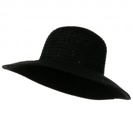 Chenille Hat with Sequins - Black