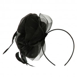 Black Feather Design Headband Fascinator