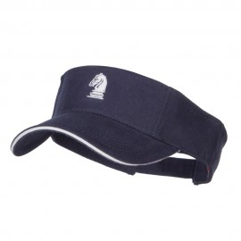 Chess Knight Embroidered Brushed Visor
