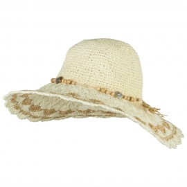 Toyo Braid Scalloped Brim Straw Hat