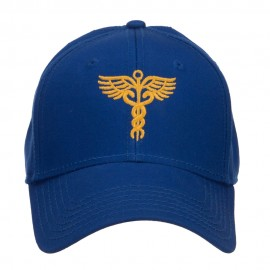 Original Medical Caduceus Embroidered Cotton Cap