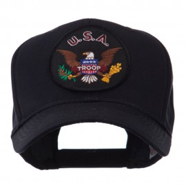 Army Circular Shape Embroidered Military Patch Cap - Troop